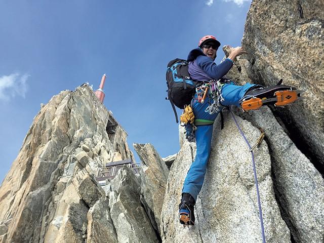 Steve Charest climbing in Chamonix, France, in 2015 - COURTESY OF STEVE CHAREST