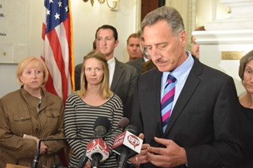 Gov. Peter Shumlin announces he won't seek reelection in 2016. - TERRI HALLENBECK