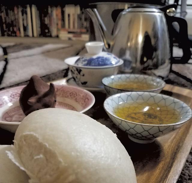 Tea and dim sum - COURTESY OF LION TURTLE TEA
