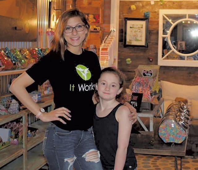 Sky and Ava Fletcher at Ava's Candy Corner - COURTESY OF AVA'S CANDY CORNER