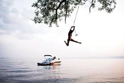Rope-swinging into Lake Champlain - MONICA DONOVAN