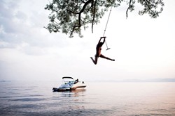 Rope-swinging into Lake Champlain - MONICA DONOVAN