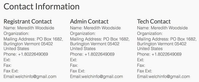 welchforgovernor.com domain registration from the Internet Corporation for Assigned Names and Numbers' WHOIS system. - SCREENSHOT