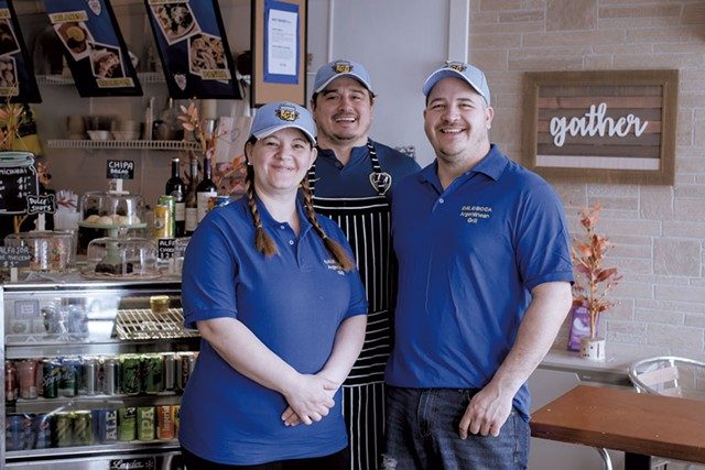 From left: Lorena Neironi Rossi, Leandro Bustos and Javier Zirko of Dale Boca Café - LUKE  AWTRY