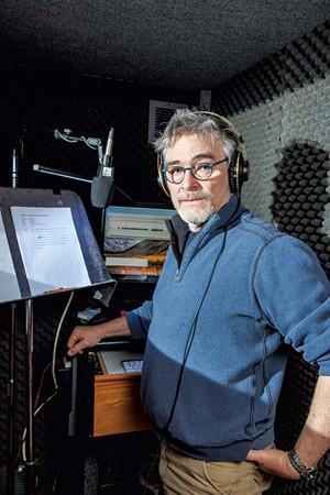 Tom Bodett in his home studio in Dummerston - ZACHARY P. STEPHENS