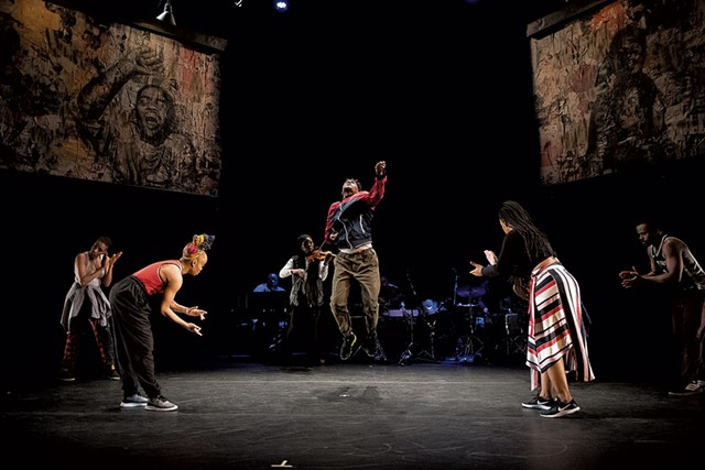 Camille A. Brown & Company performing a scene in ink - COURTESY OF CHRISTOPHER DUGGAN