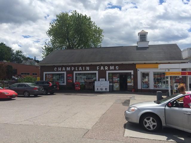 A Champlain Farms gas station on Main Street in Burlington. - ALICIA FREESE