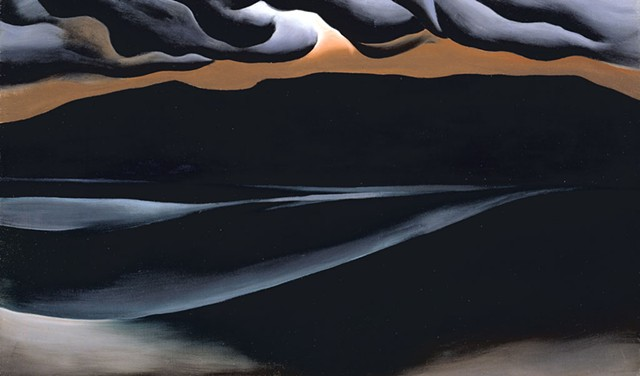 Georgia O'Keeffe, Storm Cloud, Lake George, 1923. Oil on canvas, 18 x 30 1/8 (45.7 x 76.5). - GEORGIA O'KEEFFE MUSEUM