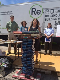 Deb Markowitz, secretary of the Vermont Agency of Natural Resources, at a press conference on Thursday - ALICIA FREESE
