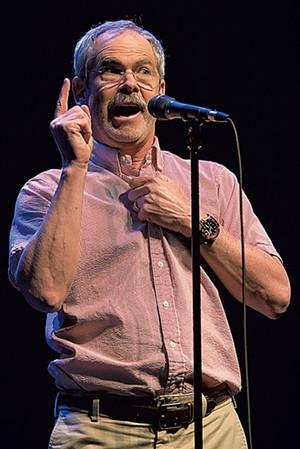 Mark Redmond performing at the Moth GrandSLAM in 2018. - FILE PHOTO BY RAJAN CHAWLA