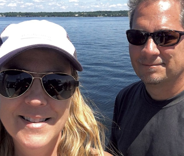 Tricia and Phil Scott on Lake Champlain - COURTESY OF PHIL SCOTT