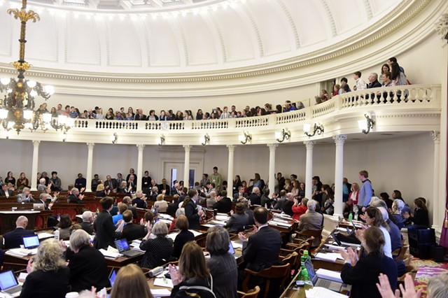 Legislators applauded the Good Citizens from the House floor. - JEB WALLACE-BRODEUR