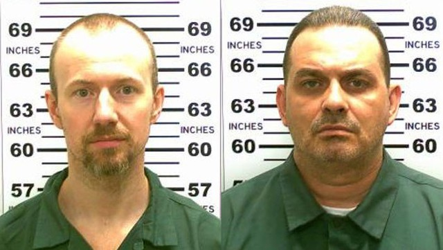 David Sweat, left, and Richard Matt.