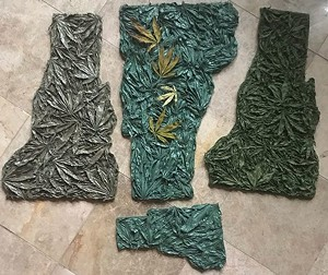Examples of Julie Duquette's cannabis-inspired artwork - IMAGE COURTESY OF JULIE DUQUETTE