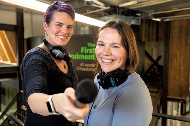 """But Why"" host Jane Lindholm (left) and producer Melody Bodette - JAMES BUCK"