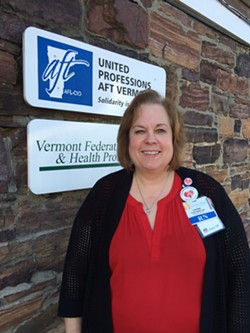 Laurie Aunchman, interim president of Vermont Federation of Nurses and Health Professionals - NANCY REMSEN