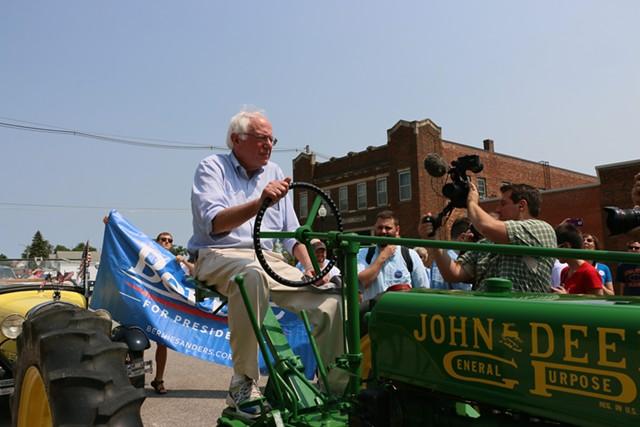 Sen. Bernie Sanders at the Denison, Iowa, Independence Day Parade - DEBRA KAPLAN