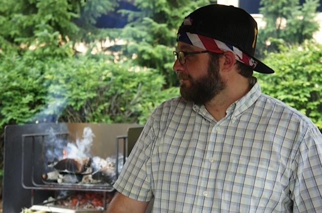 Executive chef Doug Paine sporting festive attire - VICTORIA CASSAR