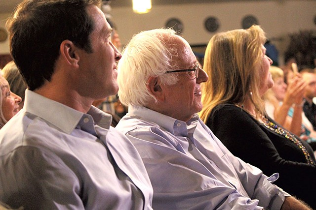 Sen. Bernie Sanders and his family at Our Revolution's August 2016 launch - PAUL HEINTZ