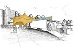 Executive director Nina Thompson's design of a traveling trailer exhibit that can be erected wherever WUTD events are held - WAKE UP TO DYING PROJECT