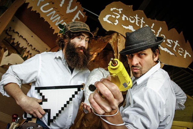 Pete Talbot and Ben T. Matchstick of Cardboard Teck Instantute - RAYCHEL SEVERANCE