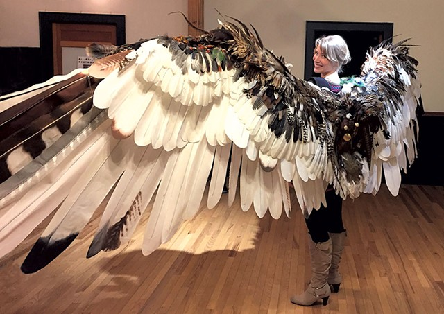 Katie Runde with her wings - COURTESY OF LYLEE RAUCH-KACENSK