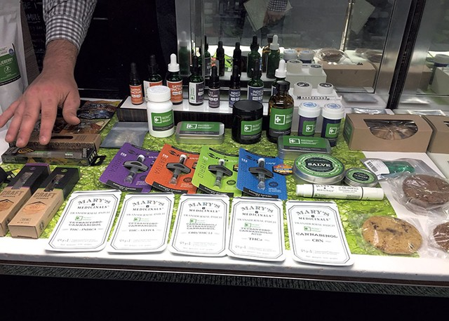 Products at Champlain Valley Dispensary - SASHA GOLDSTEIN