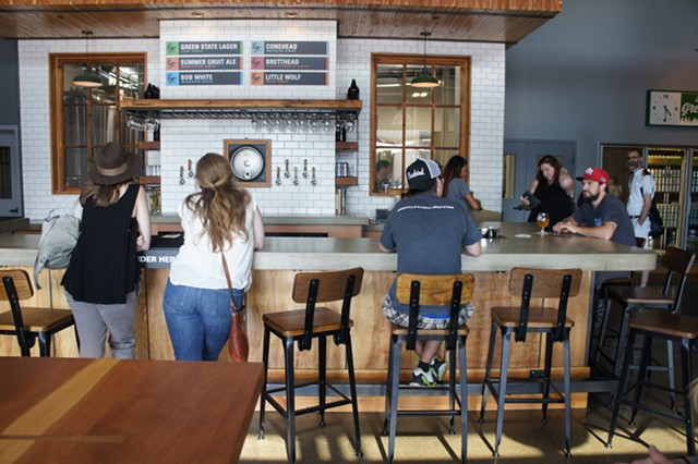Beer bar at Zero Gravity Craft Brewery - STACEY BRANDT