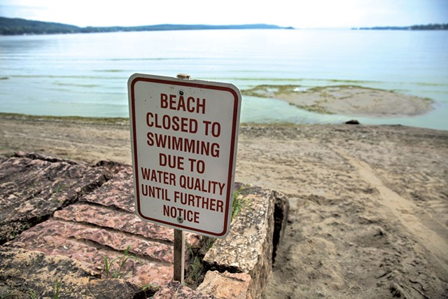 Pollution in Lake Champlain has led to beach closures in recent summers. - FILE