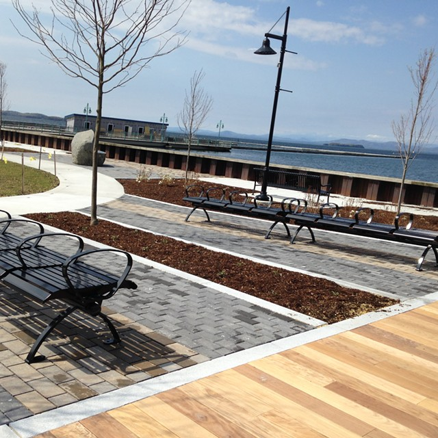 The new Water Works Park near the Burlington Harbor Marina - MOLLY WALSH