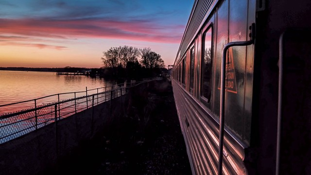 View of Lake Champlain from the Champlain Valley Dinner Train - EVA SOLLBERGER, JAMES BUCK