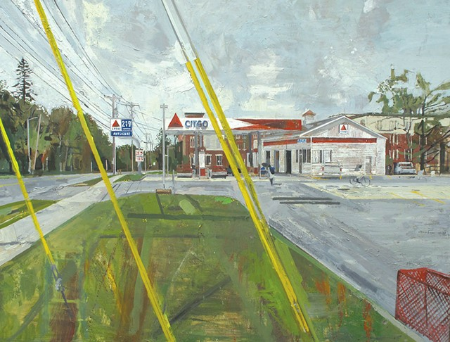 Peter Fried painting of Kaigle's Citgo