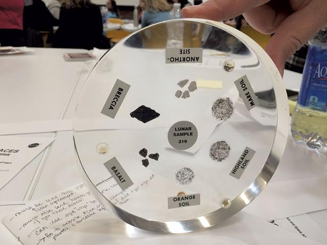 One of the NASA discs - COURTESY OF ABBY WANSERSKI