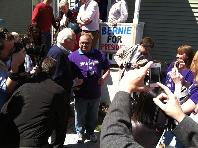 Sen. Bernie Sanders (I-Vt.) campaigns in May in New Hampshire. - TERRI HALLENBECK