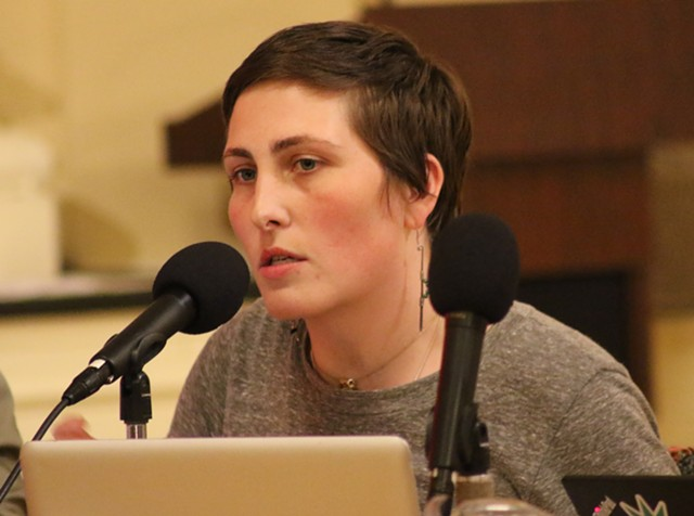 Perri Freeman (P-Central District) at Monday's council meeting - COURTNEY LAMDIN