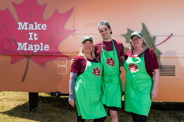 Paulette Fiorentino-Robinson, left, Charlie Aldrich and Sue Aldrich - COURTESY OF THE FOOD NETWORK