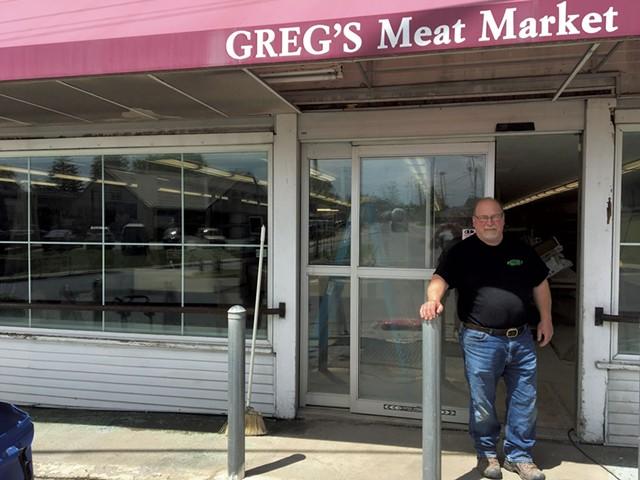 Jim Blais at the future Greg's Market - JAMES FINN