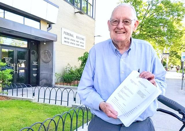 Tony Redington at U.S. District Court in Burlington - PINE STREET COALITION
