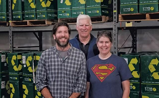 From left: Jeremy Rayburn, Derrick Senior and Stephanie Sander of RecycleBalls - COURTESY PHOTO