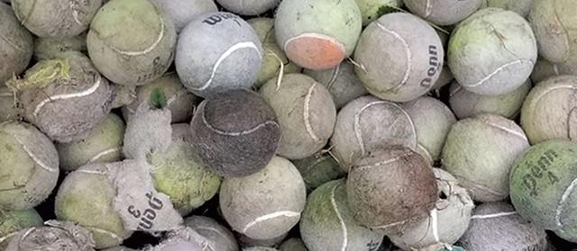 Spent tennis balls - COURTESY PHOTO