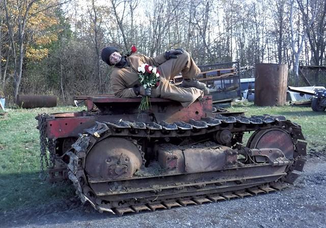 """Styling on a 1945 International TD14"" - COURTESY PHOTO"