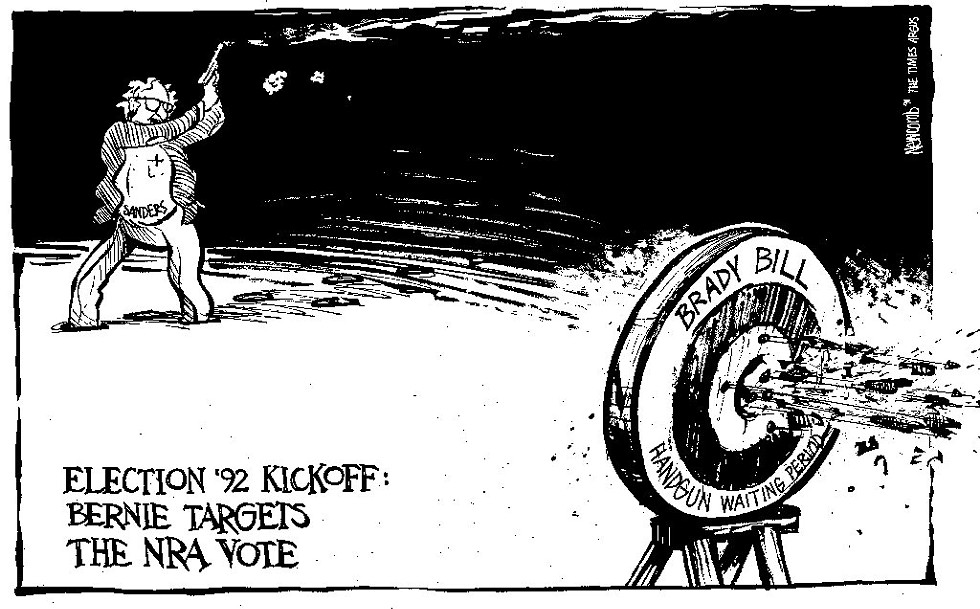A Tim Newcomb cartoon first published in 1991 - COURTESY