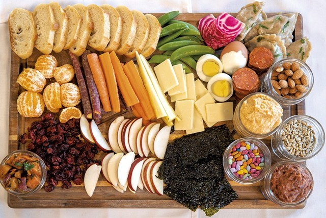 Finished snack board - JAMES BUCK