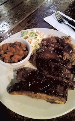 St. Louis-style ribs at the Shelburne Tap House - COURTESY OF THE SHELBURNE TAP HOUSE