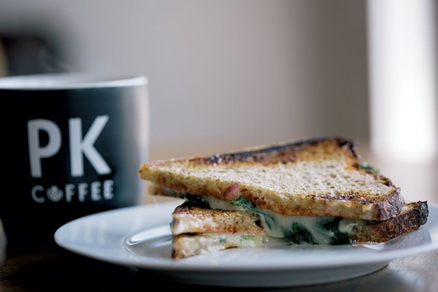 Coffee and sandwich at PK Coffee - COURTESY OF JESSE SCHLOFF
