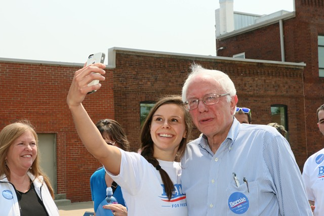 Sen. Bernie Sanders (I-Vt.) in Iowa in July - FILE: DEBRA KAPLAN