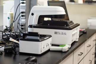 A BioTek device at the company's Winooski headquarters - LUKE AWTRY