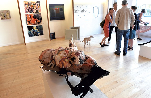 An abstract sculpture created by artist-in-residence Maria Giancola in the gallery space of 77Art - JON OLENDER