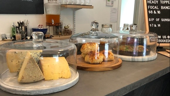 Housemade cheese scones at the Crooked Ram - JORDAN BARRY
