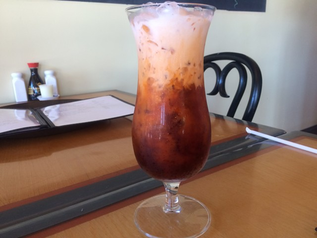 Thai iced tea, $2.50 - ALICE LEVITT